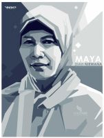 MAYA DIAH monocrome by opparudy