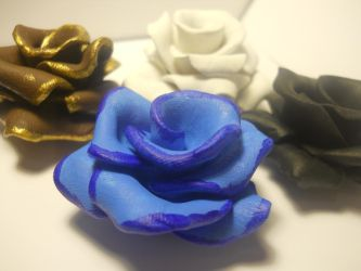 Painted Clay Roses by SailorXena251