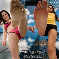 Double giantess foot crush!! by UltimateGiantess