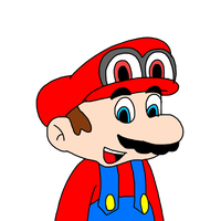Mario with cap from Super Mario Oddyssey by MarcosPower1996