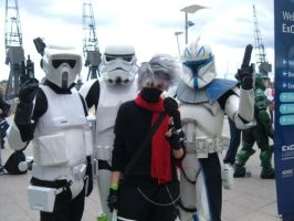 Kakashi with StormTroopers by firecasterx2
