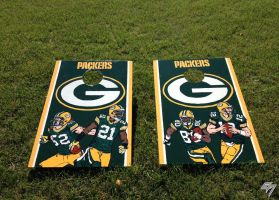 Green Bay Packers cornhole boards 1 by EricAndersonCreative