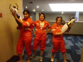 Animate Miami '13: Chell Trio by NaturesRose