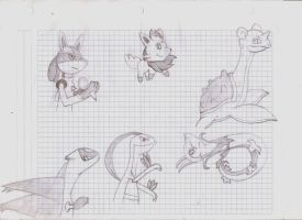 Pokemon Sketches by Sonicth62