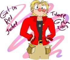 Gal in red jacket by e-tahn