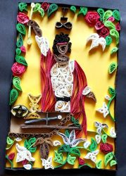 Quilled Tarot: The Magician by El-Sharra