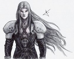 Sephiroth sketch by RodWolf