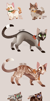 leftover adoptables 40n160p flatsales || 2/6 open by AMARYLLIES