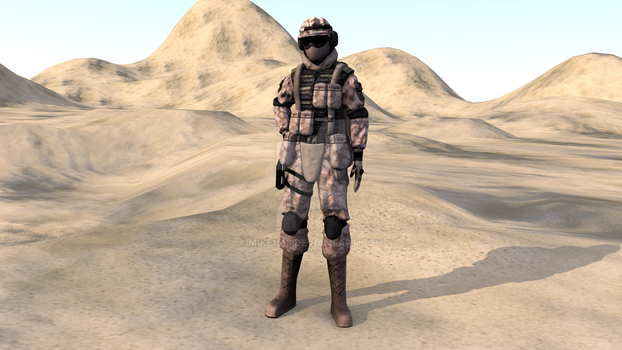 US Army trooper W.I.P. 2 by Mike1518