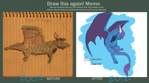 Draw This Again-- Elemental Dragon by RedtheGamr