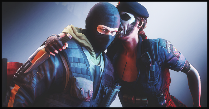 Caveira and Bandit (Rainbow Six Siege) by AngryRabbitGmoD