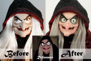 Disney Old Hag Doll Repaint | Before - After by the-art-of-claude