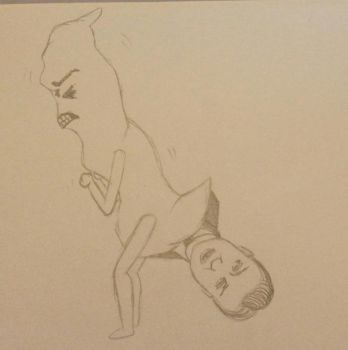 A big jobby pooping out David Cameron by CherryVileEtsy