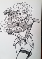 Daily Drawing #10 - Rogue Warrior Girl by Mr-Sage