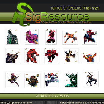 Renders Pack 24 by Tortuegfx