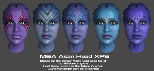 MEA Asari Head XPS by Padme4000