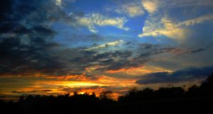 Firey Sunset by Dreamscape-Photos
