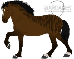 Reverse Rabicano Wardane Mutation by WinterVodka-Stables
