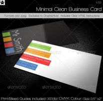 Minimal Clean Business Card by HollowIchigoBanki