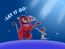 Timon And Pumbaa Singing Let It Go by kylgrv