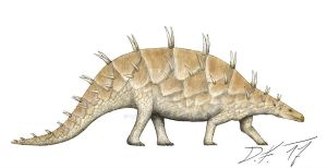 The pangolin stegosaur by Pachyornis