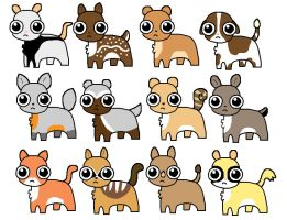 Bright Eyes Pets 10pt(3 8 9 10 12 open) by katamariluv