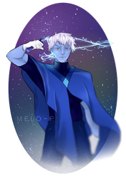 Holly Blue Agate ( MALE FORMED GEM ) by MeloPearl