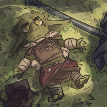 A goblin contemplates his mortality by TheDracoJayProduct