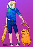 Finn and Jake by No-Nami