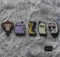 Acrylic Charms (for sale) by FluffyParcel