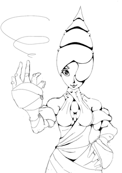 Spiral King's Daughter WIP2 by GhostingFish