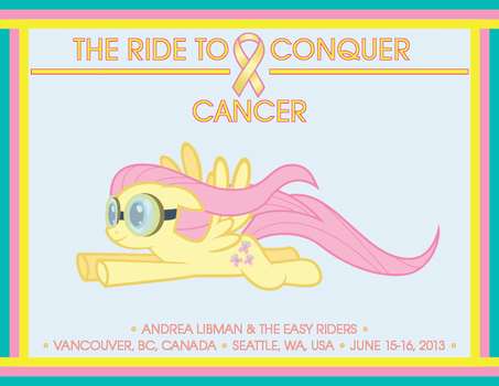 The Ride to Conquer Cancer (Fluttershy) by AurumNoble
