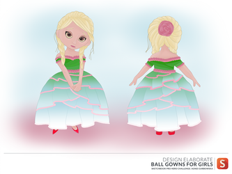 Hero Challenge - Ball Gowns for girls by GwyniesArt