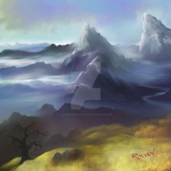 inspired by Swiss Mountains by longhairedartist