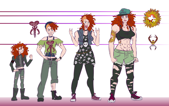 Lizzie Dahl timeline (ART BY SQUIRRELKITTY) by Foxy-Knight