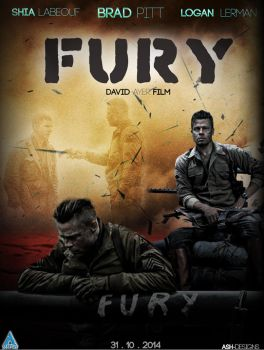 The Fury Movie ft.Brad Pitt Poster by Ash-Designs