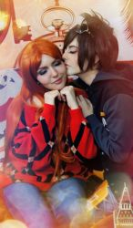 Tracer and Emily by Dropchocolate