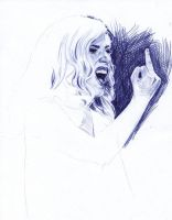 Lady Gaga Ballpoint Pen by AngelinaBenedetti