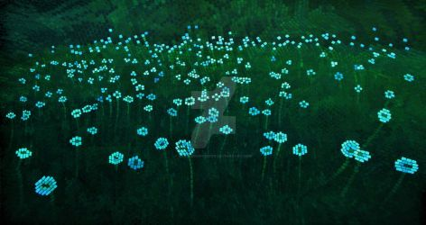 Dandelion Seed Heads At Dusk by eastcorkpainter