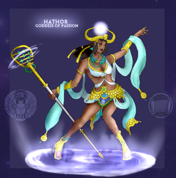Smite Concept - Hathor, Goddess of Passion by Kaiology