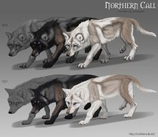 Northern Call: Retextured female pups by Chickenbusiness