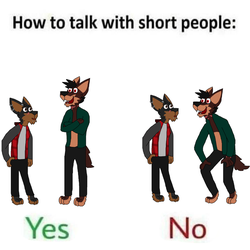 How To Talk With Short People (contest entry) by FlameNelson