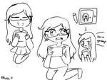 Chilling with my tablet by OliviaCxt