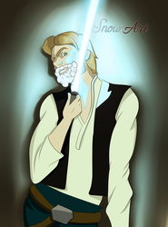 Han Solo shaving! by ScatteredDream13