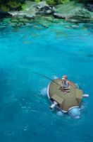 Out fishing with Blastoise by mcgmark
