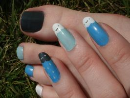 Clouds and Rain Nails by OkBear
