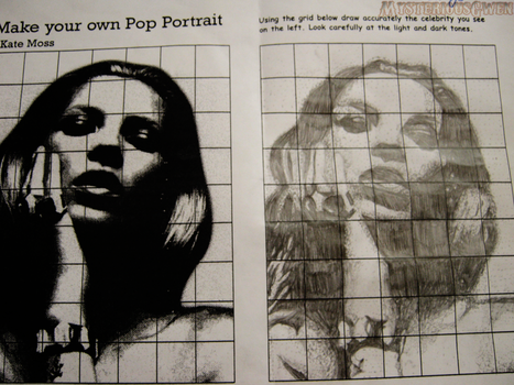 Kate Moss pop art drawing by Emily-Charlie