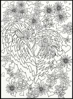 Page 8 of Australian Birds Adult Coloring Book by LorraineKelly