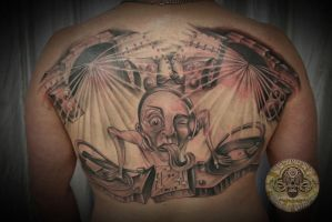 DJ Turntable Tattoo finished by 2Face-Tattoo