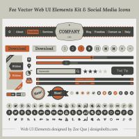 Fee Vector Simple Web UI Elements Kit by Designbolts